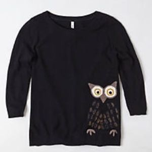 Anthropologie Moth Wisened Owl Pullover Sweater